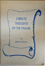 2 minute thoughts on the Psalms - Click Image to Close