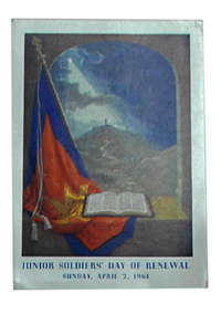 Picture Card of Flag through open window (1961)