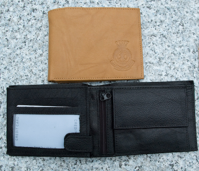 Men's Leather Wallet with embossed Crest.