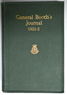 General Booth's Journal 1921-1922 (Bramwell Booth)