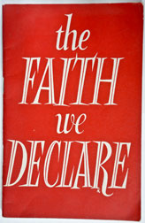 The Faith We Declare (Doctrines)
