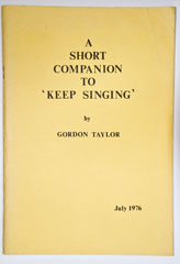 "A Short Companion to ""Keep Singing"""