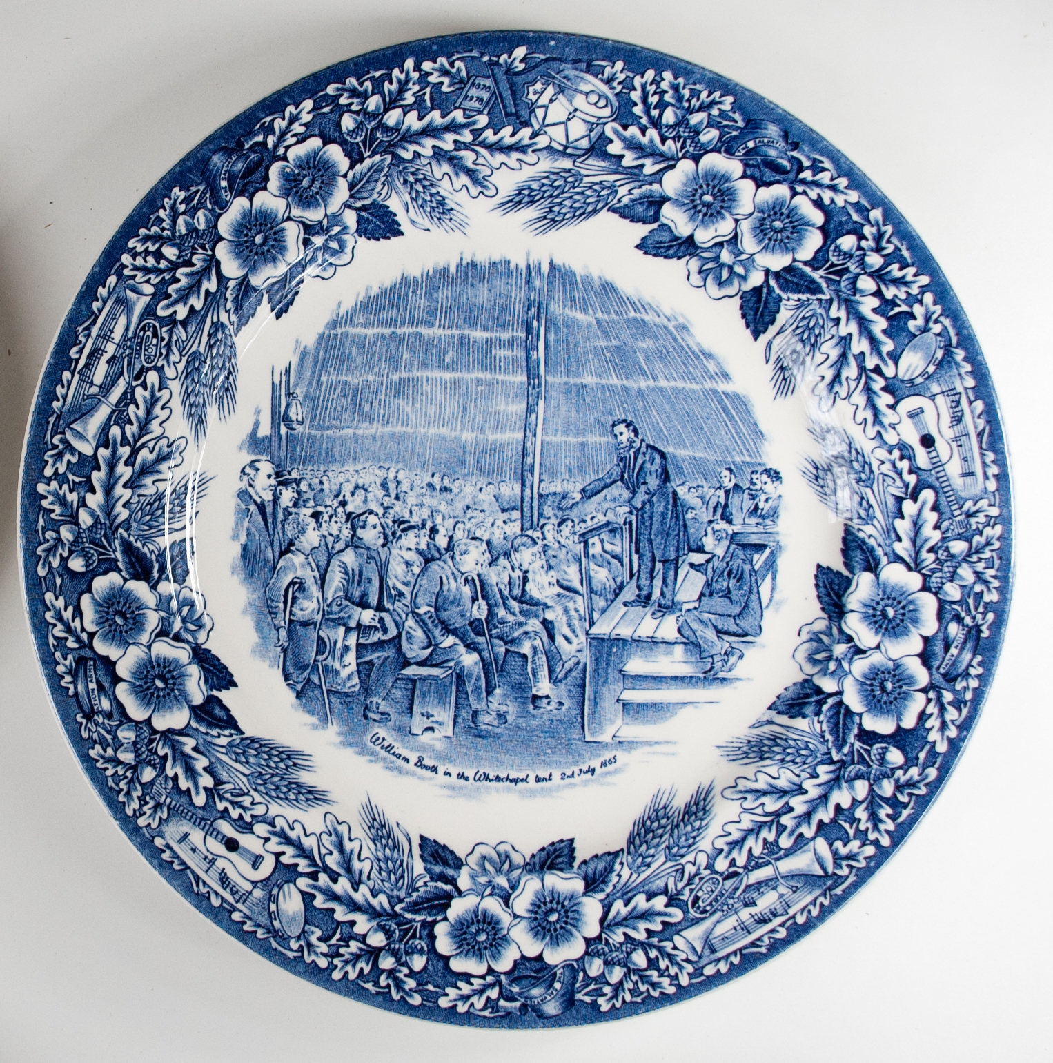 Blue and white china plate of 1978 congress edition.
